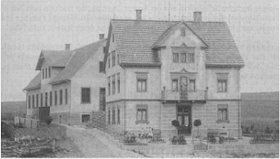 The house and first workshops at Hauptstrasse 69